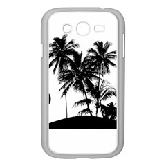 Tropical Scene Island Sunset Illustration Samsung Galaxy Grand DUOS I9082 Case (White)