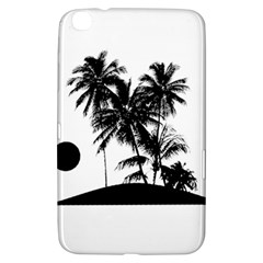 Tropical Scene Island Sunset Illustration Samsung Galaxy Tab 3 (8 ) T3100 Hardshell Case