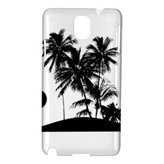 Tropical Scene Island Sunset Illustration Samsung Galaxy Note 3 N9005 Hardshell Case