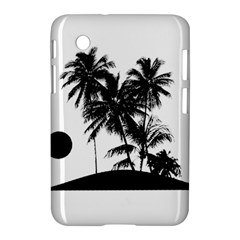Tropical Scene Island Sunset Illustration Samsung Galaxy Tab 2 (7 ) P3100 Hardshell Case