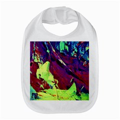 Abstract Painting Blue,yellow,red,green Bib