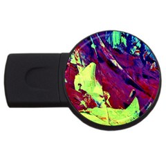 Abstract Painting Blue,Yellow,Red,Green USB Flash Drive Round (2 GB)