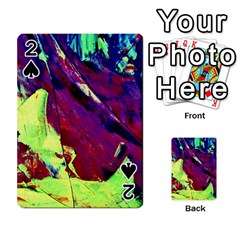 Abstract Painting Blue,Yellow,Red,Green Playing Cards 54 Designs