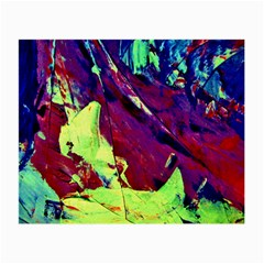 Abstract Painting Blue,yellow,red,green Small Glasses Cloth (2 Side)