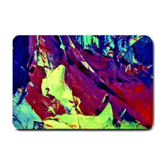Abstract Painting Blue,yellow,red,green Small Doormat