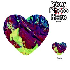 Abstract Painting Blue,yellow,red,green Multi Purpose Cards (heart)
