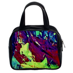 Abstract Painting Blue,Yellow,Red,Green Classic Handbags (2 Sides)