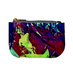 Abstract Painting Blue,yellow,red,green Mini Coin Purses