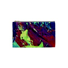 Abstract Painting Blue,yellow,red,green Cosmetic Bag (small)