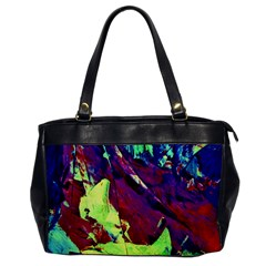 Abstract Painting Blue,Yellow,Red,Green Office Handbags