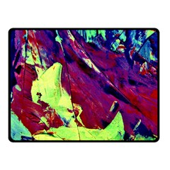 Abstract Painting Blue,yellow,red,green Fleece Blanket (small)