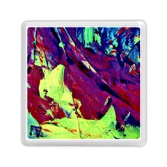 Abstract Painting Blue,Yellow,Red,Green Memory Card Reader (Square)