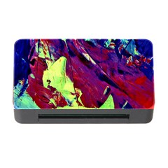 Abstract Painting Blue,yellow,red,green Memory Card Reader With Cf