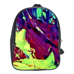 Abstract Painting Blue,Yellow,Red,Green School Bags (XL)