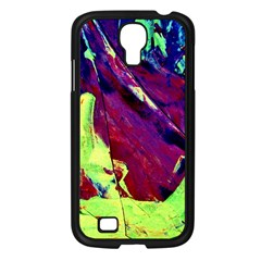 Abstract Painting Blue,yellow,red,green Samsung Galaxy S4 I9500/ I9505 Case (black)