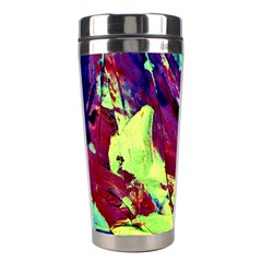 Abstract Painting Blue,yellow,red,green Stainless Steel Travel Tumblers