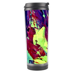 Abstract Painting Blue,yellow,red,green Travel Tumblers