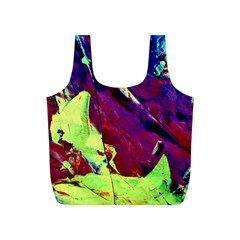 Abstract Painting Blue,Yellow,Red,Green Full Print Recycle Bags (S)