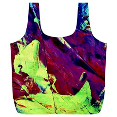 Abstract Painting Blue,yellow,red,green Full Print Recycle Bags (l)