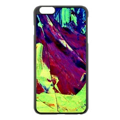 Abstract Painting Blue,yellow,red,green Apple Iphone 6 Plus/6s Plus Black Enamel Case