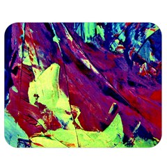 Abstract Painting Blue,yellow,red,green Double Sided Flano Blanket (medium)