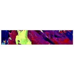 Abstract Painting Blue,yellow,red,green Flano Scarf (small)