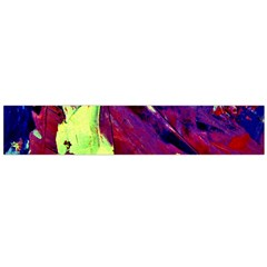 Abstract Painting Blue,yellow,red,green Flano Scarf (large)