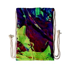 Abstract Painting Blue,yellow,red,green Drawstring Bag (small)