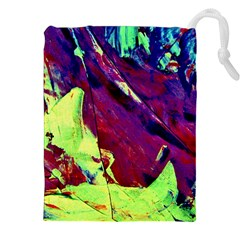 Abstract Painting Blue,Yellow,Red,Green Drawstring Pouches (XXL)