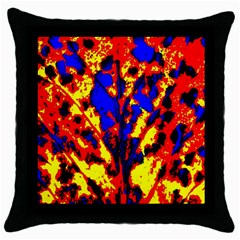 Fire Tree Pop Art Throw Pillow Cases (black)