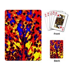Fire Tree Pop Art Playing Card