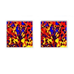 Fire Tree Pop Art Cufflinks (square)