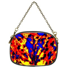 Fire Tree Pop Art Chain Purses (one Side)