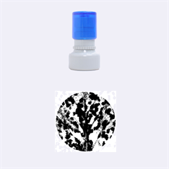 Fire Tree Pop Art Rubber Round Stamps (Small)