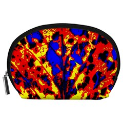 Fire Tree Pop Art Accessory Pouches (Large)