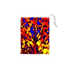 Fire Tree Pop Art Drawstring Pouches (XS)