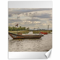 Fishing And Sailboats At Santa Lucia River In Montevideo Canvas 36  x 48