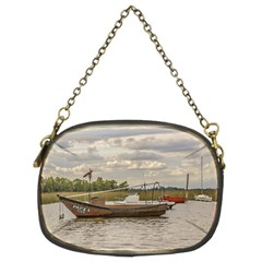 Fishing And Sailboats At Santa Lucia River In Montevideo Chain Purses (Two Sides)