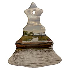 Fishing And Sailboats At Santa Lucia River In Montevideo Christmas Tree Ornament (2 Sides)