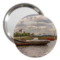 Fishing And Sailboats At Santa Lucia River In Montevideo 3  Handbag Mirrors