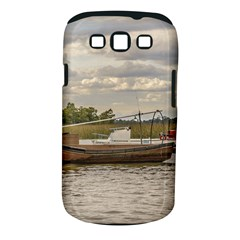 Fishing And Sailboats At Santa Lucia River In Montevideo Samsung Galaxy S III Classic Hardshell Case (PC+Silicone)