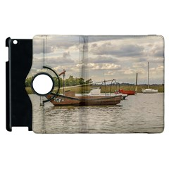 Fishing And Sailboats At Santa Lucia River In Montevideo Apple iPad 3/4 Flip 360 Case