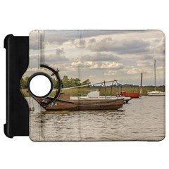 Fishing And Sailboats At Santa Lucia River In Montevideo Kindle Fire HD Flip 360 Case
