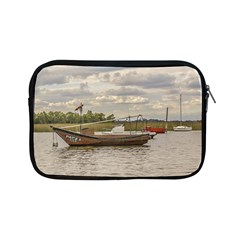 Fishing And Sailboats At Santa Lucia River In Montevideo Apple iPad Mini Zipper Cases