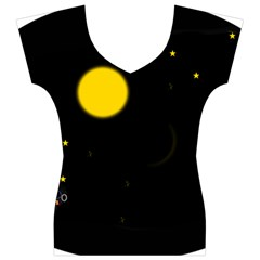 Cycle to the moon Women s V-Neck Cap Sleeve Top