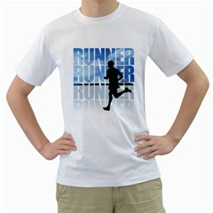 Runner-01 Men s T-Shirt (White)