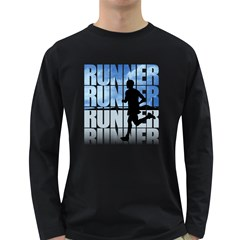 Runner-01 Men s Long Sleeve T-shirt (Dark Colored)