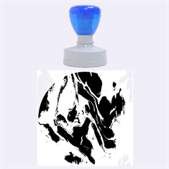 Blue Red White Marble Pattern Rubber Round Stamps (large)