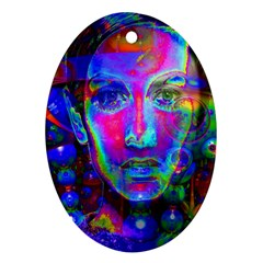 Night Dancer Oval Ornament (Two Sides)
