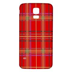 Plaid Samsung Galaxy S5 Back Case (White)